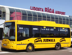 get reach jurmala riga airport bus coach