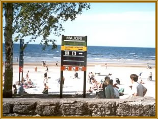 Jurmala resort sea beach