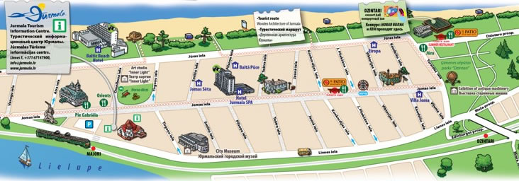 Jurmala Map all Tourist Information on Map of Jurmala